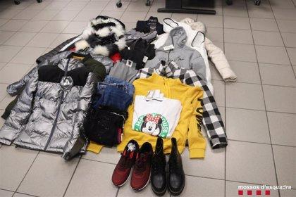 Dos detenidos por robar ropa de un comercio de Lleida