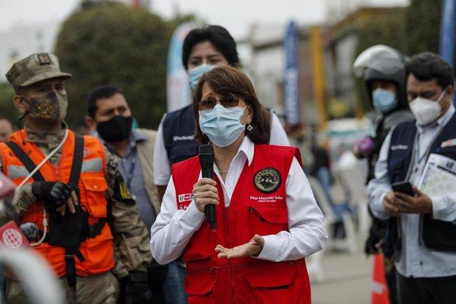 La ministra de Salud de Perú, Pilar Mazzetti.