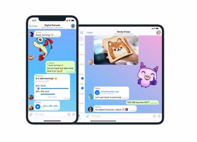 Telegram para iphone e iPad