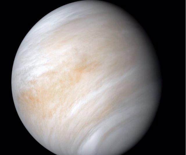 Una imagen de Venus compilada con datos de la nave espacial Mariner 10 en 1974