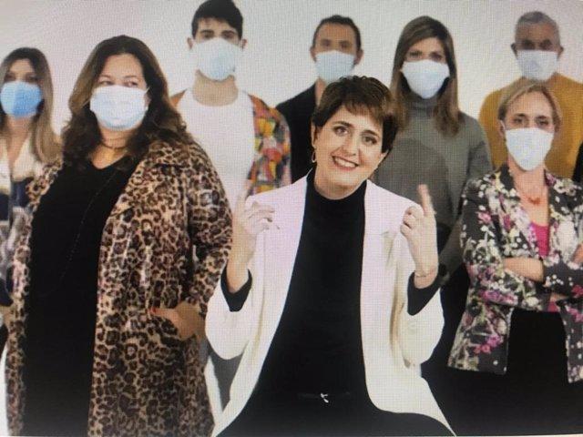 La cap de llista del PNC a les eleccions, Marta Pascal, en l'anunci del 14-F del seu partit