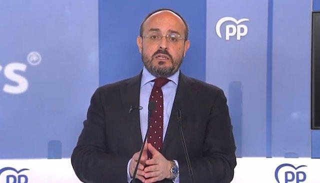 El candidat del PP el 14-F, Alejandro Fernández