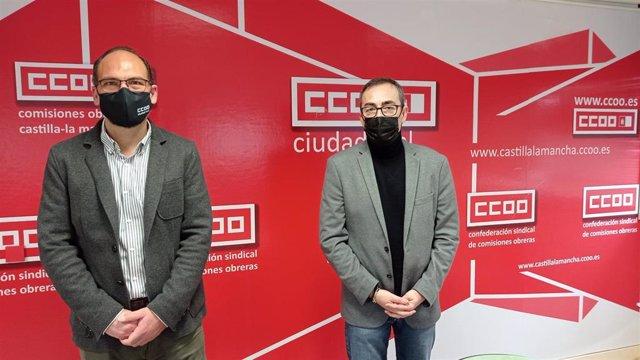 El secretario regional de CCOO, Paco de la Rosa,