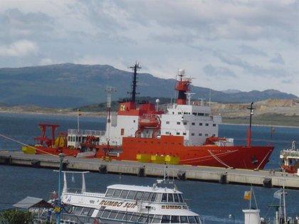 El 'Hespérides' regresa a su base de Cartagena tras un mes en Las Palmas por un brote de Covid en su dotación