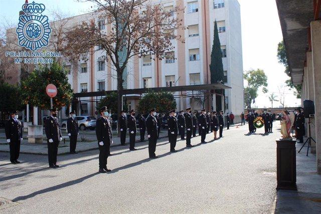 Jura de oficiales de la Policía Nacional en Sevilla