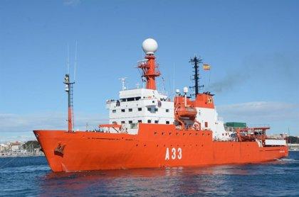 El BIO 'Hespérides' parte de Gran Canaria a Cartagena (Murcia) tras finalizar el brote de Covid detectado en el buque