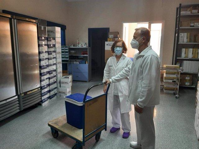 Recepción de la vacuna de Moderna en el Hospital de Crónicos y Larga Estancia de Sant Vicent del Raspeig