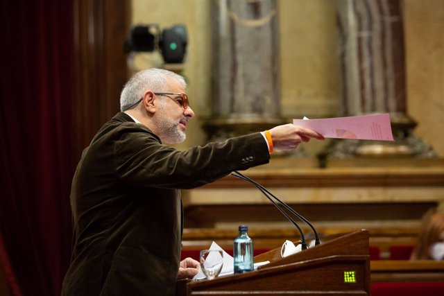 El candidat de Cs a la presidència de la Generalitat, Carlos Carrizosa, en la Diputació Permanent del Parlament. Catalunya (Espanya), 20 de gener del 2021.