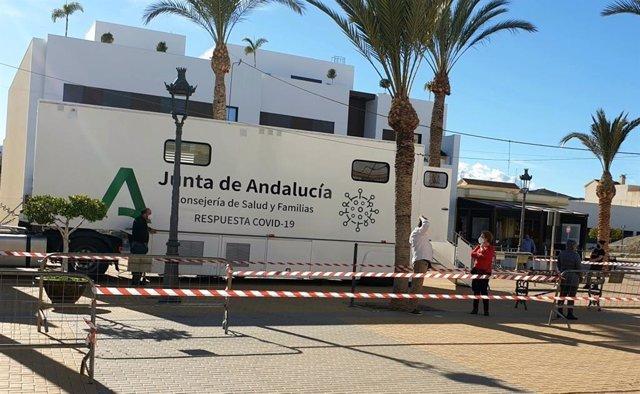Cribado de covid-19 en Antas (Almería)