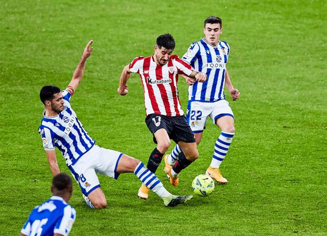 Yuri Berchiche of Athletic Club during the Spanish league, La Liga Santander, football match played between Athletic Club and Real Sociedad at San Mames stadium on December 31, 2020 in Bilbao, Spain.