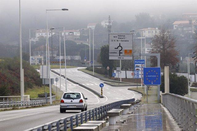 La frontera de Galicia con Portugal, en O Porriño, Galicia (España), a 5 de diciembre de 2020. Desde las 00.00 horas del viernes 4 de diciembre hasta las 00.00 horas del miércoles 5 de diciembre, Galicia estará cerrada perimetralmente. La Xunta considera