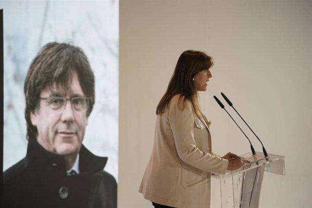 La candidata de JxCat a les eleccions, Laura Borràs