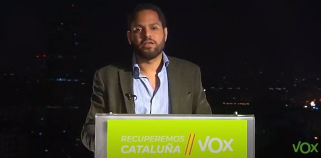El candidat de Vox a les eleccions catalanes, Ignacio Garriga