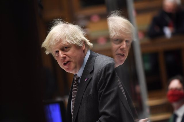 HANDOUT - 27 January 2021, United Kingdom, London: UK Prime Minister Boris Johnson speaks during Prime Minister's Questions in the House of Commons. Photo: Jessica Taylor/Uk Parliament via PA Media/dpa - ATTENTION: editorial use only and only if the credi