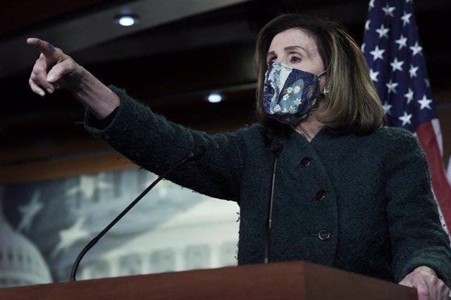 La presidenta de la Cámara de Representantes de Estados Unidos, Nancy Pelosi.