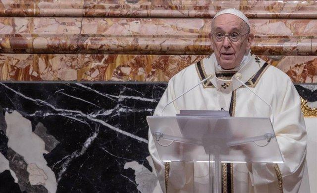 El Papa el pasado 24 de diciembre