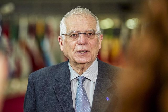 HANDOUT - 25 January 2021, Belgium, Brussels: Josep Borrell, European Union High Representative for Foreign Affairs and Security Policy, speaks during a press conference ahead of an EU Foreign Ministers meeting at the EU headquarters. Photo: Mario Salerno