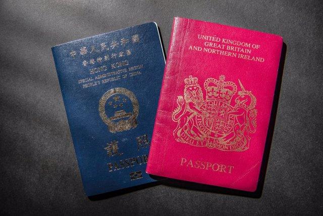 Pasaporte británico para territorios de ultramart y pasaporte de Hong Kong