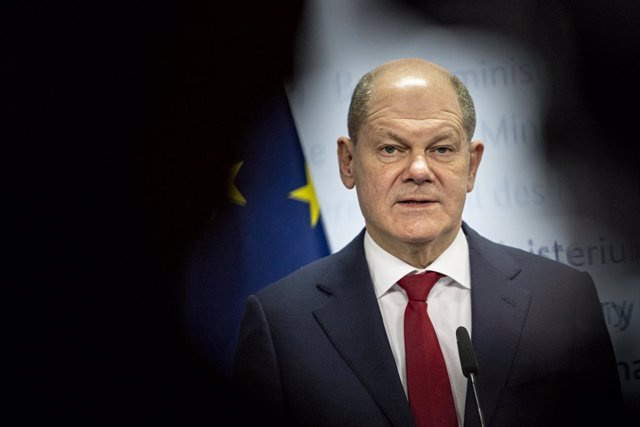16 December 2020, Berlin: Olaf Scholz, German Minister of Finance, speaks before the virtual meeting of the Eurogroup at the Federal Ministry of Finance. Photo: Fabian Sommer/dpa