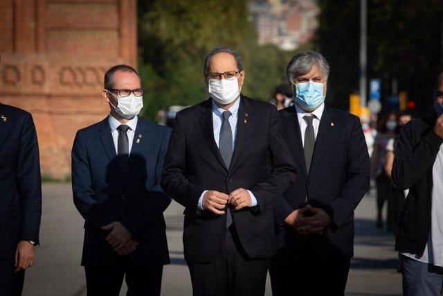 El president de la Generalitat, Quim Torra, arriba al Tribunal Superior de Justícia de Catalunya. Barcelona (Espanya), 23 de setembre del 2020.
