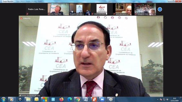 El presidente de la CEA, Javier González de Lara, en una imagen de archivo.