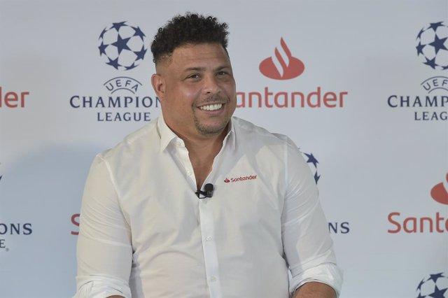 Ronaldo Nazario durante un acto como embajador del Banco Santander