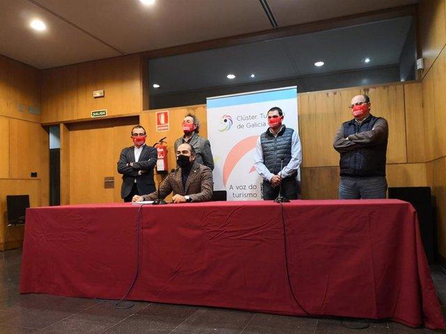 Representantes del Cluster Turismo de Galicia, tras el fracaso de las negociaciones