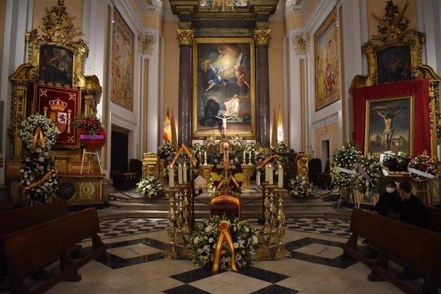 Capilla ardiente del arzobispo castrense Juan del Río