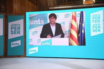 """14F.- Puigdemont (Junts) apunta a ERC: """"No es pot servir a dues repúbliques al mateix temps"""""""