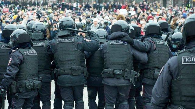 Protestas en apoyo a Alexei Navalni en Moscú