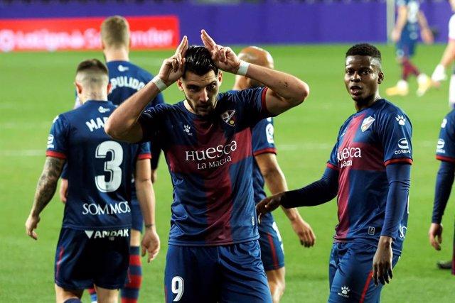 Rafa Mir, autor de un hat-trick ante el Valladolid