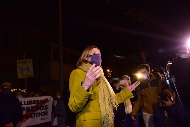 L'expresidenta del Parlament de Catalunya, Carme Forcadell, reingresa a la presó de Dones de Wad-Ras després que el Tribunal Suprem revoqués la seva concessió del tercer grau, a Barcelona (Catalunya) 4 de desembre de 2020. Arxiu.