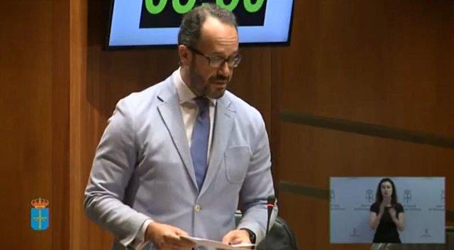 El portavoz de Vox, Ignacio Blanco