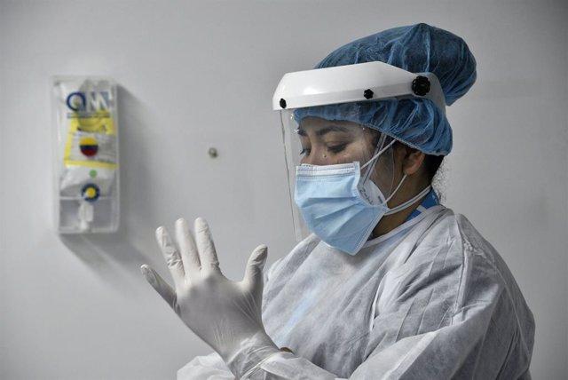 Personal sanitario del hospital Patio Bonito Tintal de Bogotá, Colombia.