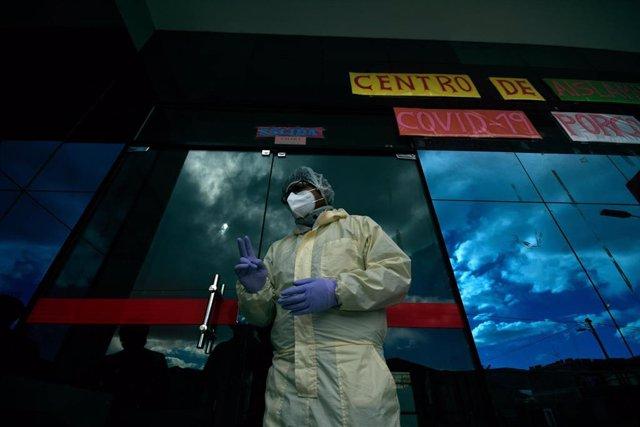 Un centro de cuarentena para positivos de coronavirus en la ciudad de Potosí, en el sur de Bolvia.