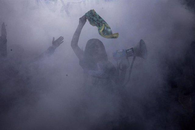 Protestas contra el Gobierno de Israel en Jerusalén el día 29 de enero de 2021.