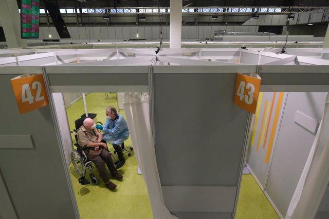 Centro de vacunación en Berlín