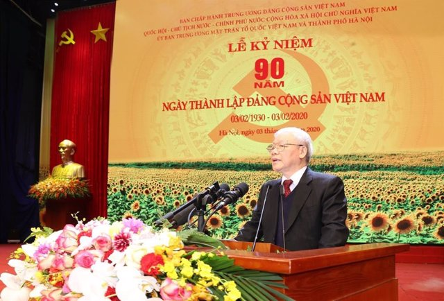 El presidente de Vietnam, Nguyen Phu Trong.
