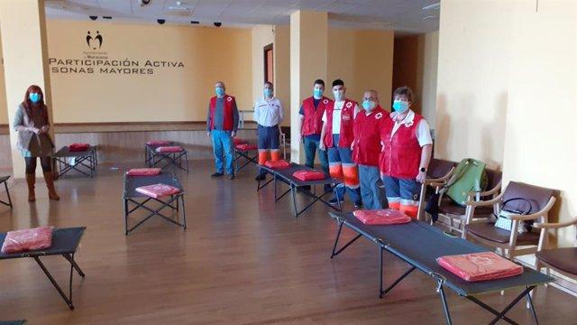 Alojamiento provisional de Cruz Roja en Maracena