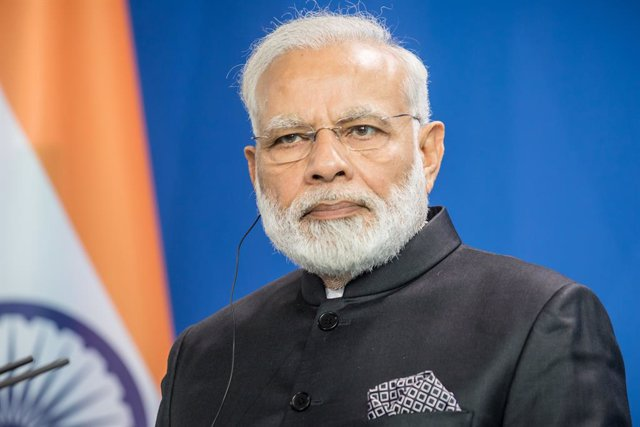 FILED - 30 May 2017, Berlin: Indian Prime Minister Narendra Modi attends a press conference in Berlin. Modi expressed his wishes for a speedy recovery for US President Donald Trump and First Lady Melania after they tested positive for the Coronavirus. Pho