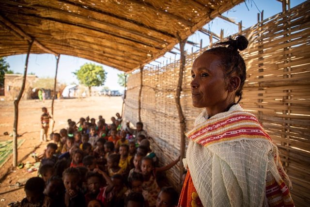 Refugiados en Tigray