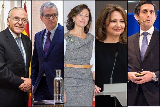 Isidre Fainé, Pablo Isla, Ana Botín, Marta Álvarez y José María Álvarez-Pallete, los cinco líderes empresariales de España, según Advice Strategic Consultants