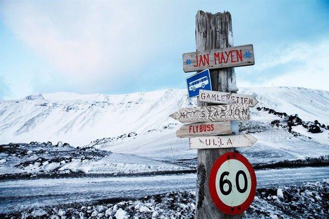 Isla noruega de Jan Mayen, en el océano Ártico