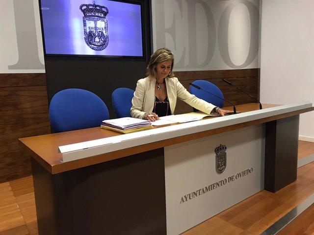 La concejala de Deportes en el Ayuntamiento de Oviedo, Concepción Méndez.