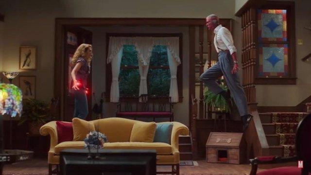 Bruja Escarlata vs Vision en el avance del episodio 5 de WandaVision