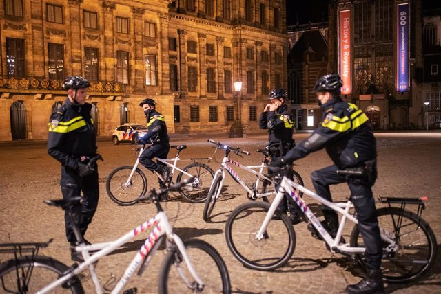 Policía en Ámsterdam