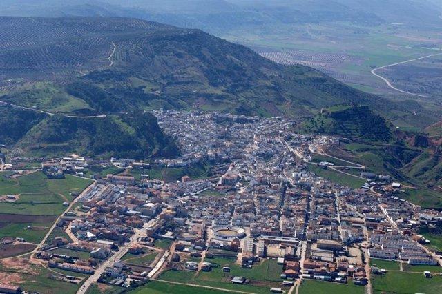 Vista del municipio de Santisteban del Puerto (Jaén).