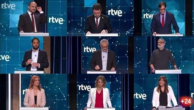 Debate de RTVE para las elecciones del 14 de febrero.