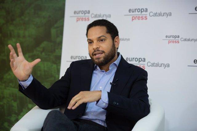 Ignacio Garriga (VOX) en una trobada digital d'Europa Press