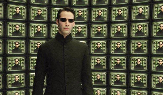Keany Reeves como Neo en Matrix